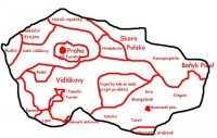 Mapa České republiky pro Pražáky
