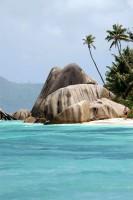 Typická pláž na Seychelech