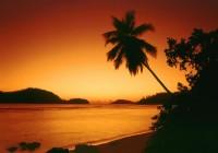 Západ slunce Ile Therese Mahe Seychely