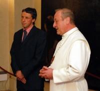 Primátor Pavel Bém a opat Michael Josef Pojezdný