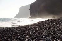 Na pláži ostrova Gomera, Kanárské ostrovy, Španělsko, Evropa