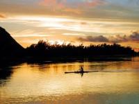 Západ slunce, ostrov Bora Bora, Francouzská Polynésie