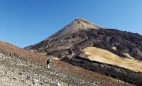 Sestup z Pico del Teide, Tenerife, Kanárské ostrovy, Španělsko, Evropa