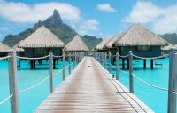 The colors of Bora Bora Island