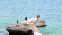 Pláž Clifton u Kapského města, Jihoafrická republika, Afrika