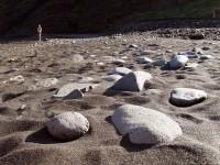 Pláž ostrova Gomera, Kanárské ostrovy, Evropa