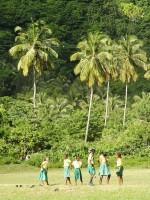 Děti v Soufriere, ostrov Dominika, Karibik