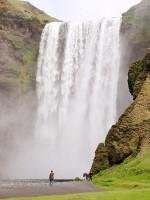 Vodopád Skogafoss, Island, Evropa