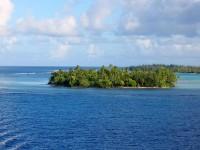 Ostrovy Francouzské Polynésie pokrývá bujně zelená vegetace