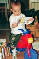 Na Vánoce jsem mimo jiné dostala motorku.