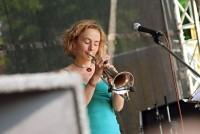 Zpěvačka a trumpetistka skupiny Traband: Jana Kaplanová