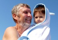 S dědou v župánku
