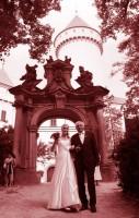 Svatba Jany Vozábové a Karla Wolfa