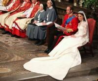Novomanželé William a Kate během svatebního obřadu ve Westminsterském opatství