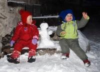 Postavili jsme sněhuláka