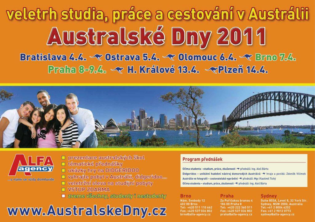 Pozvánka na Australské Dny 2011