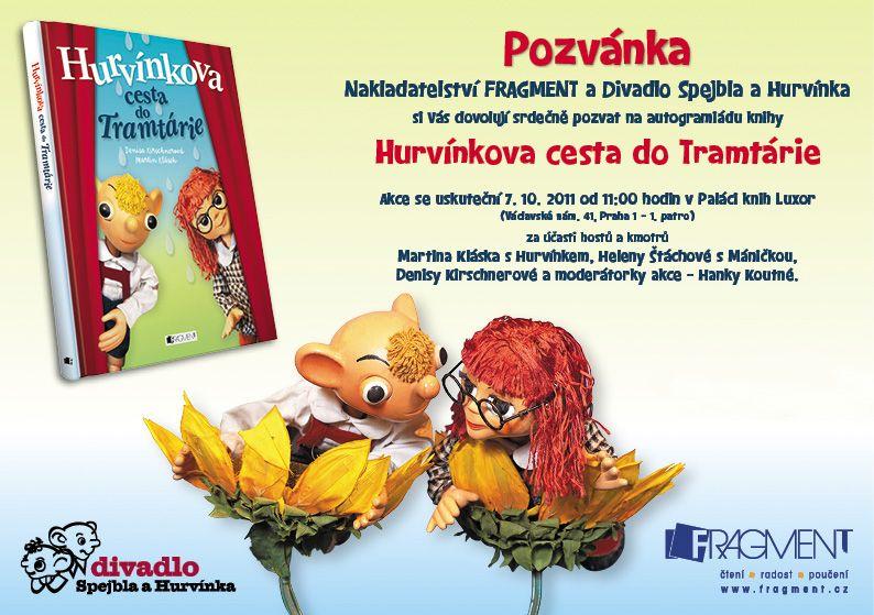 Autogramiáda a křest knihy Hurvínkova cesta do Tramtárie