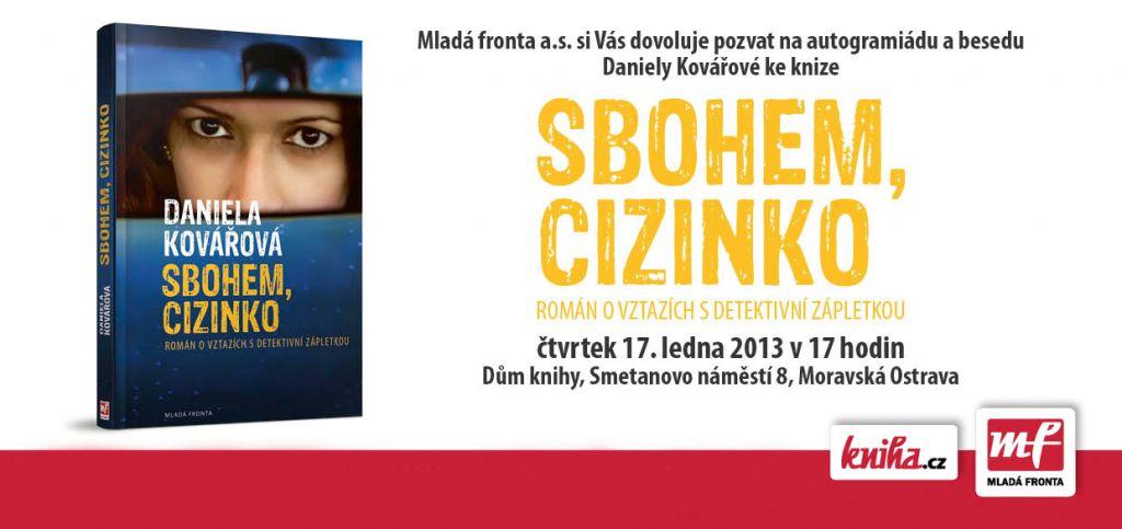 Pozvánka na besedu s Danielou Kovářovou