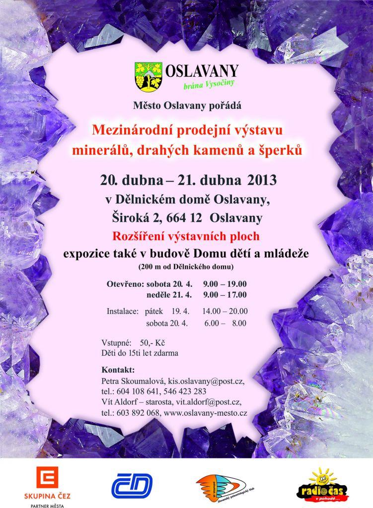 Výstava minerálů v Oslavanech