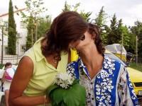 První novomanželský polibek...mlask :o)