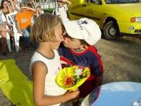 První polibek Haničky a Martínka