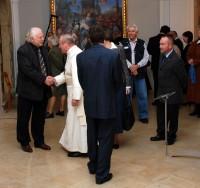 Na slavnostní otevření zavítal i ředitel Národní galerie Milan Knížák