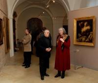 Umělecká díla obdivoval i Vlastimil Harapes (vlevo)