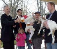 Kozlíci búrští byli pokřtěni Velkopopovickým kozlem