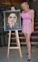 Berenika Saudková se svým obrazem