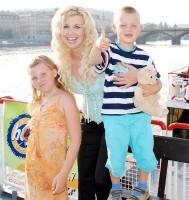 S dcerou Gábinou a synem Markem