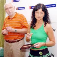 MUDr. Štefan Vítko s Olmerovou manželkou, Simonou Chytrovou