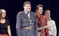 L. Pernetová, J. Meduna, R. Říčař a J. Nosek v muzikálu Šakalí léta