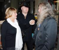 Vlasta Kahovcová a Petr Kocman se vítají s Ringo Čechem