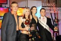 Pořadatel Wellness Celebrity Show Michael Zima s Ivou Kubelkovou a vítězi