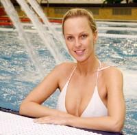Zuzana Belohorcová po tenisovém turnaji s chutí relaxovala v bazénu