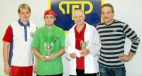 Michael Zima s vítězi Michalem Hudčekem a Pavlem Richterem a Martinem Severou