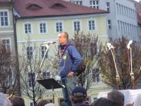 Ke shromáždení promluvil i představitel českého Skautu