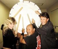 Bubnování s japonským bubeníkem