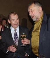 Václav Havel s Janem Vodňanským