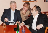 Miroslav Donutil s Karlem Vágnerem a Dušanem Kleinem