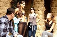Česká modelka Petra Faltýnová se stala středem zájmu v Barceloně