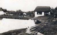 Nové Dvory u Slap nad Vltavou kolem roku 1918. (Autor: Josef Dvořák)
