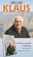 Autogramiáda Václava Klause k jeho nové knize Zápisky z cest