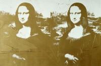 Zlatá Mona Lisa Andyho Warhola v galerii Gask