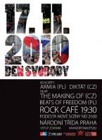 Den svobody v pražském Rock Café