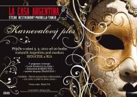 Pozvánka na karnevalový ples do La Casa Argentina