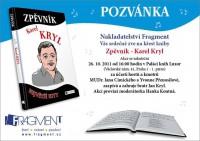 """Pozvánka na křest zpěvníku """"básníka s kytarou"""" Karla Kryla"""