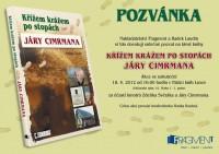 Pozvánka na křest knihy Křížem krážem po stopách Járy Cimrmana