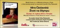 Pozvánka na slavnostní benefici Věry Čáslavské
