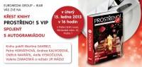 Pozvánka na křest knihy Prostřeno ! s VIP